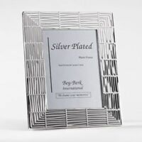 """Bey Berk Silver Plated 5""""X7"""" Picture Frame With Easel Back"""