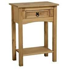 Seconique CORONA Distressed Mexican Pine 1 Drawer Console Table With Shelf