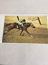 Ron Turcotte Racing HOF Signed 3x5 Belmont  Postcard Authentic Autograph