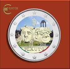 "2 Euro Gedenkmünze Coin Italien 2016 "" Plauto / Plautus "", coloriert,"