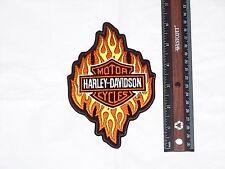 RARE HARLEY DAVIDSON MOTORCYCLES BAR SHIELD FLAMES jacket vest Embroidered Patch