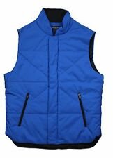 Nautica Crest Blue Full-Zip Quilted Vest Jacket in Large