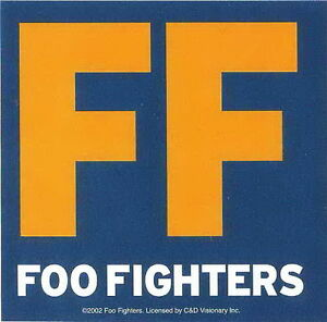 FOO FIGHTERS Big F Vinyl Sticker Rock Official Merchandise
