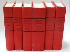 RARE 6 Vol SET HISTORIA DE LA LITERATURA ARGENTINA EDICIONES PEUSER 1958 1st Ed.