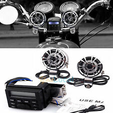 Motorcycle Horns Handlebar FM MP3 Player Radio Audio System Speakers Scooter ATV