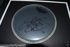 """Jon Fishman PHISH Autographed 8"""" REMO Drumhead- boldly signed in person."""