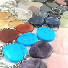 Pack of 5 Gemstone Chakra Keyrings WHOLESALE Genuine New Amethyst etc Reiki KRG1