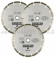 3 SEGMENTED DIAMOND 7-1/4 BLADE FITS BOSCH CIRCULAR SAW CUT CONCRETE PAVER TILE