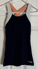 Head Baltic Black Womens Sleeveless Zip Up Sports Tennis Dress 814805 BK DD57