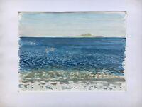 Impressionist Karl Adser 1912-1995 Coast with Seevögeln Seagulls - Sea Beach
