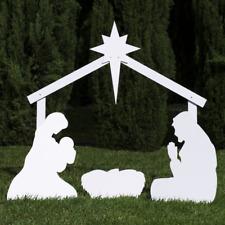 Outdoor Nativity Store Holy Family Outdoor Nativity Set Standard, White