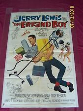 """THE ERRAND BOY Orig. 1962 27""""x41"""" Movie Poster Jerry Lewis Brian Donlevy COMEDY"""
