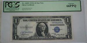 1935-A $1 Silver Certificate Star A Block FR#1608 PCGS Gem New- 66 PPQ