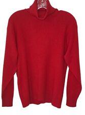 VTG Neiman Marcus womens medium sweater 100% cashmere turtleneck CHRISTMAS red