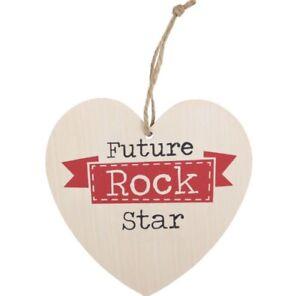 FUTURE ROCK STAR HANGING HEART SIGN Guitar Drummer Singer Bassist Gift Musician