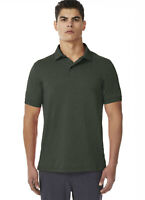NEW MENS 32 DEGREES PERFORMANCE STRETCH WICKING MESH OLIVE POLO SHIRT L