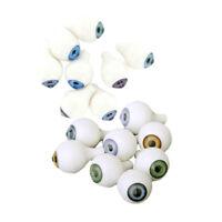 8 Pairs Full Round Acrylic Doll Bear Plastic Safety Eyes Eyeballs 14mm 12mm