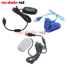 PC Wireless USB 2.0 Gaming Receiver-Controller Adapter for Xbox 360 Black/White