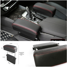 Car Seat Crevice Box Storage Organizer Gap Support Arm Rest Box Black/red line