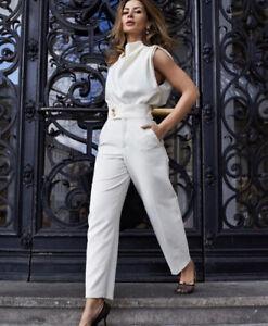 Las Mejores Ofertas En Pantalones Beige Zara De Pierna Ancha Para Mujer Ebay