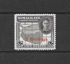 1951 King George VI SG135 5s. on 5r. Black High Value Mint Hinged SOMALILAND