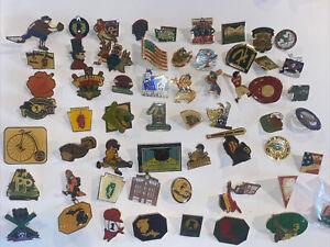 Lot Of 54 Vintage Little League Baseball Softball Pins