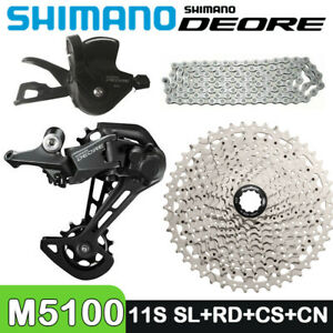 SHIMANO DEORE M5100 11Speed Groupset Shifter Rear Dearilleur HG601 CSMS8 11-51T
