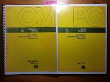 John Deere 45 55 95 105 3300 4400 6600 7700 Combine Quik-Tatch Platform Manual +
