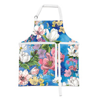 MAGNOLIA Blooms, Flowers Cotton Chef's Floral Apron by Michel Designs Works