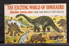 """The Exciting World of Dinosaurs Sinclair Gasoline New York World""""s Fair 1964-5"""