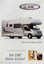 LMC Liberty Alkoven 723 G Prospekt Motorcaravan Reisemobil Wohnmobil brochure