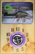 1977 Arctic Cat El Tigre snowmobile wood clock