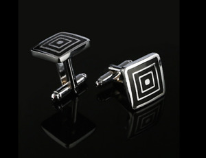 New Stainless Steel Silver Mens Cufflinks Business Party Wedding Cuff Links UK
