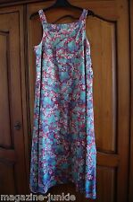 Jeff Banks floral pinafore tunic maxi festival dress VTG Size 12 14 faded look
