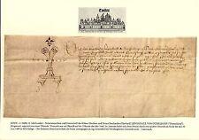 1460 KÖLN - DÜSSELDORF Notariatsinstrument URKUNDE Pergament