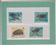 TIMBRE STAMP 4 ILES SOLOMON Y&T#475-78 TORTUE TURTLE +ENC. NEUF**/MNH-MINT ~B19