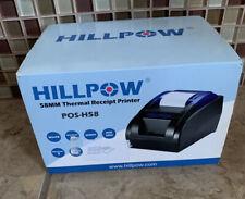 Hillpow 58mm Usb Thermal Receipt Printer Pos H58 For Windows Black New