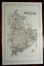 Washington County Maine 1896 J.H. Stuart large folio map