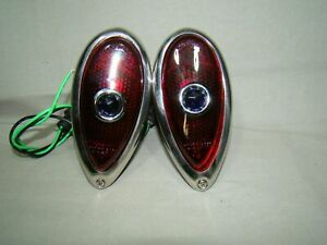 38 39 Ford tear drop Tail Lights 38 39 blue dot lights Hot Rod Rat Rod Custom