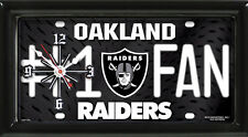 NFL Oakland Raiders License Plate Clock