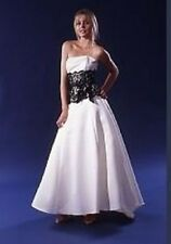 JESSICA McCLINTOCK Strapless Beige & Black Lace Wedding Dress Gown NWT Size 4