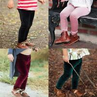 Toddler Infant Children Trousers Baby Girls Boy Solid Warm Velour Leggings Pants