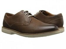 Clarks Raspin Plan Walnut Nubuck Men Oxford shoes Size 8 US NIB