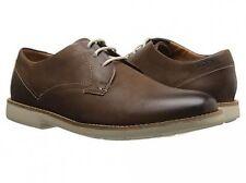 Clarks Raspin Plan Walnut Nubuck Men Oxford shoes Size 8 US NIB