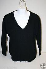 Vintage Original Gap Clothing Co. Black Wool & Rabbit Hipster V-Neck Sweater (M)