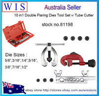 """7 Dies Double Flaring Tool Kit for 3/16""""-5/8"""" Auto Brake Line Tube Cutter-81198"""