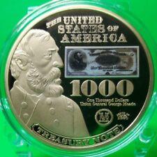 1890 $1000 TREASURY NOTE COMMEMORATIVE COIN PROOF VALUE $99.95