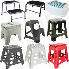 More details for small/large plastic folding step stool foldable multi purpose dual step stool