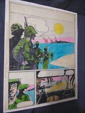STEVE HARPER original art WEIRD WAR COLOR ROUGH DC comics 1970's KALUTA BUDDY