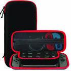 Nintendo Switch Black Slim EVA Hard Travel Case Cover With 10 Game Storage Strap